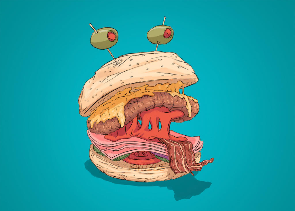 Monstroburguesa by knozos