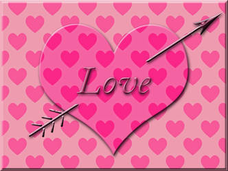 Valentine Hearts Card by FreeAvatarProject