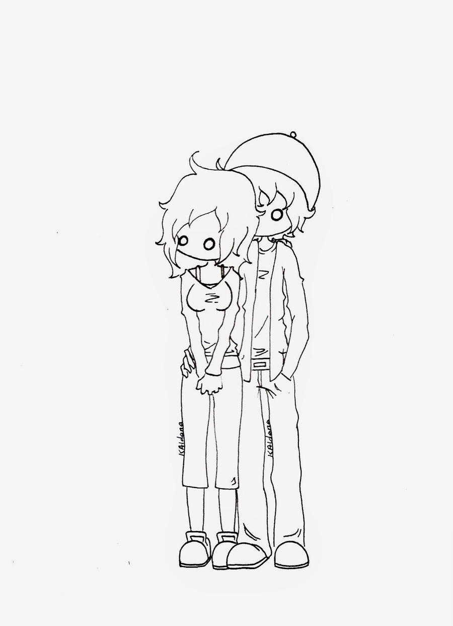 emo couples coloring pages - photo#35