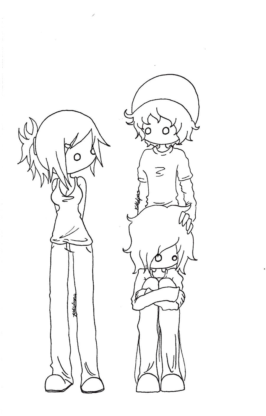 Emo Anime Coloring Pages Coloring