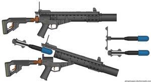 F-004E (Squasher) Grenade Rifle