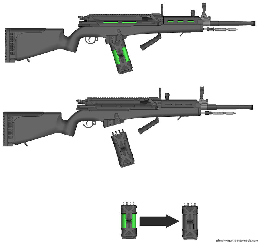 T-IER (Tanzigirian Infantry Energy Rifle) by TangyB
