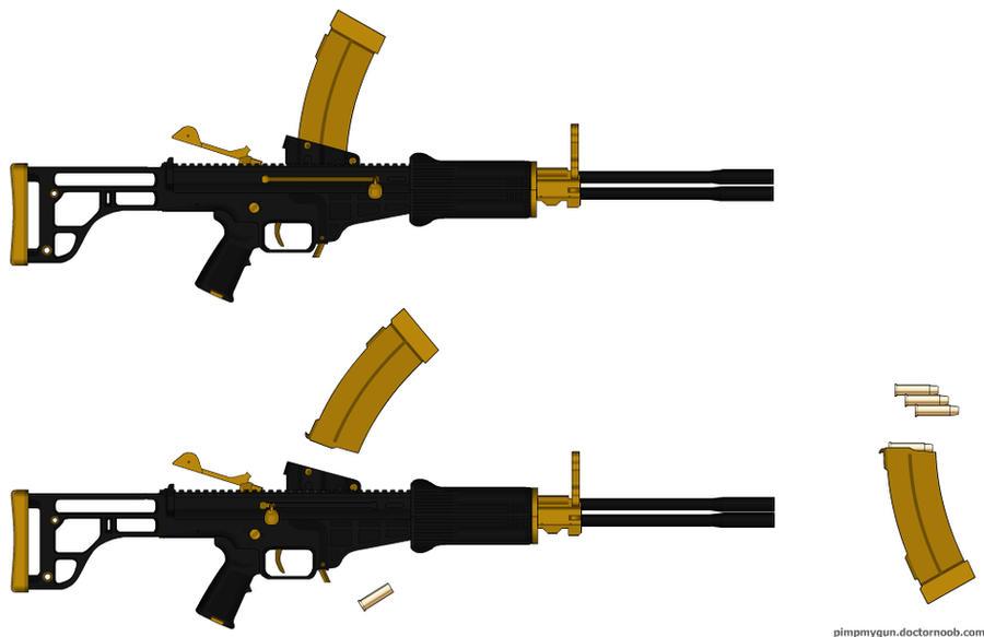 Purgo LMG (Purgatory Light Machinegun) by TangyB