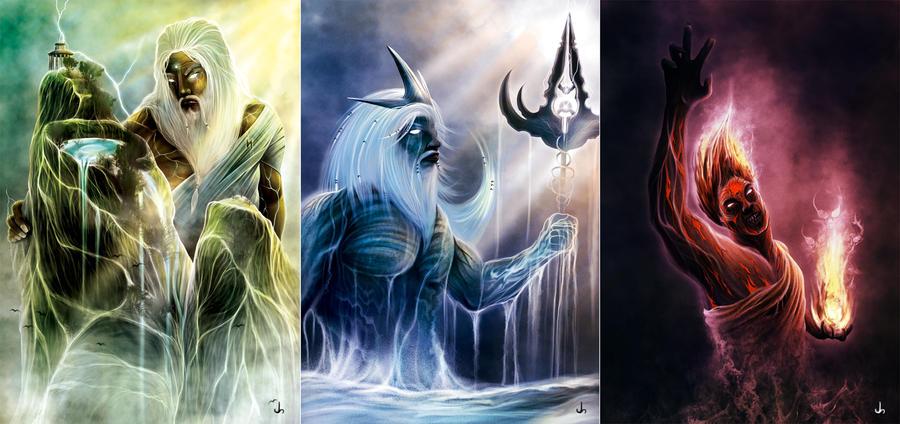 Zeus, Poseidone, Ade