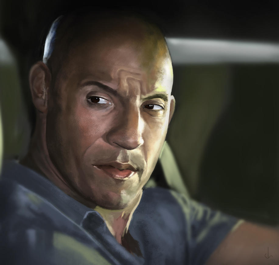 Vin Diesel Study by JoshSummana