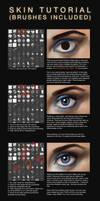 Skin Colour/Texture Tutorial + Brushes by JoshSummana