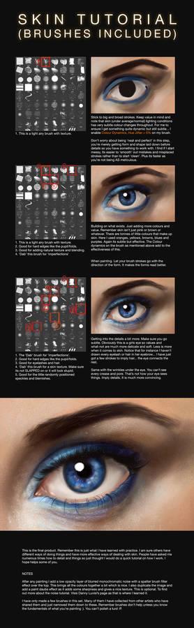 Skin Colour/Texture Tutorial + Brushes