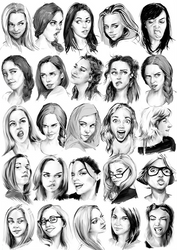Face Practice by JoshSummana