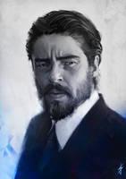 Benicio Del Toro by JoshSummana