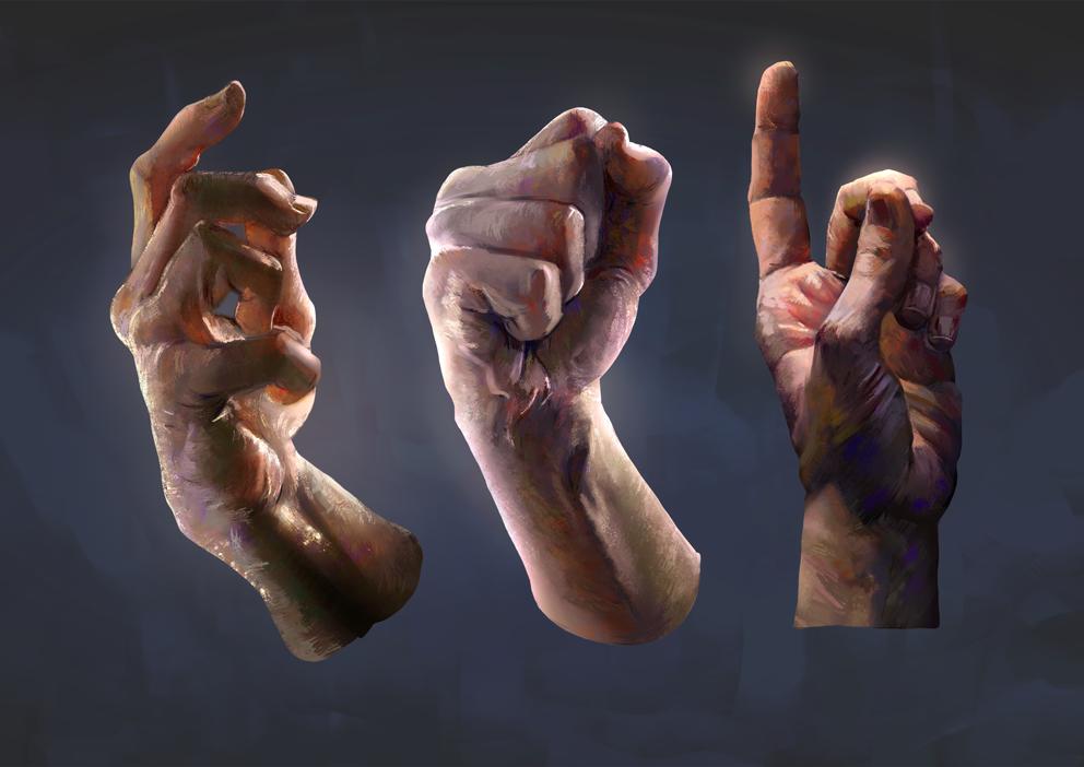 Hand Studies by JoshSummana