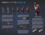 Hands - Greyscale to Colour tutorial. by JoshSummana