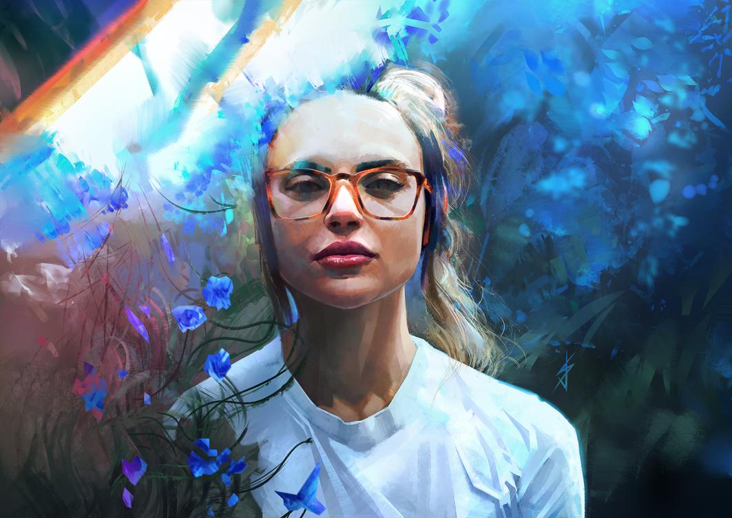 Blue Flowers by JoshSummana