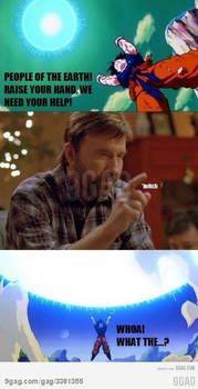 Chuck Norris give goku his power