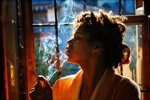 Jina smokes by Elipa