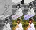 Windy Summer (Art Process)