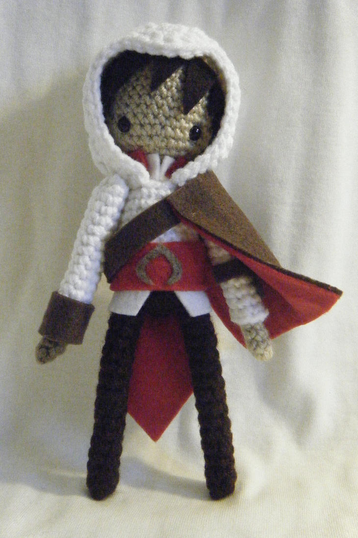 Assassin's Creed Ezio Auditore Crocheted Doll by yourstarrysky