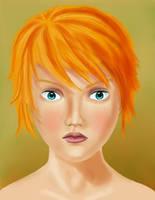 Red hair girl portrait by jorritTyb