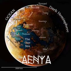The World of Aenya Map by C. Emmons* by AGEOFAENYA