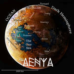 The World of Aenya Map by C. Emmons*