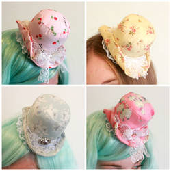 Elegant mini lolita hats by Dolly-chan