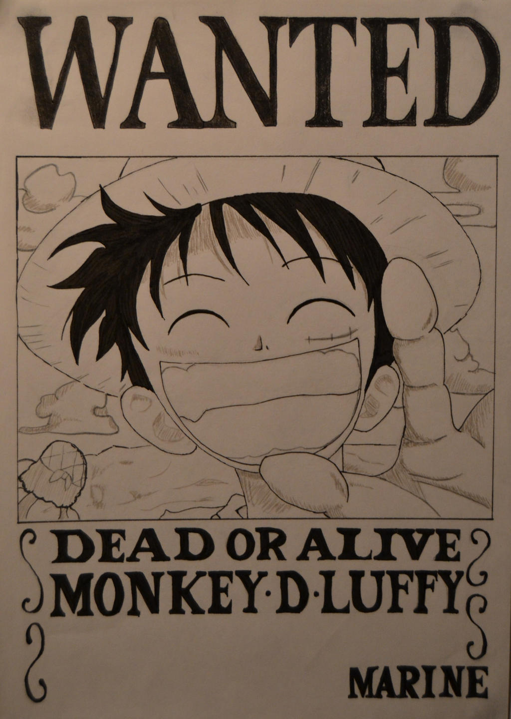 One piece luffy 39 s wanted poster by hananomori on deviantart - One piece wanted luffy ...