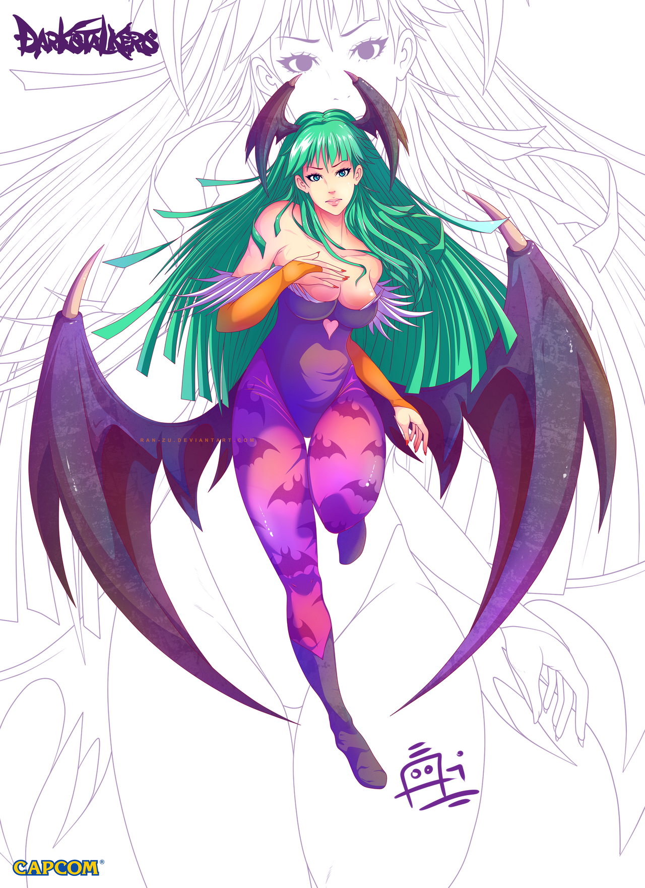 Morrigan Aensland by Ran-Zu