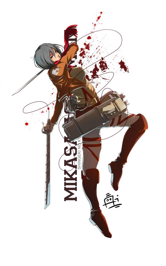 Mikasa Ackerman by Ran-Zu