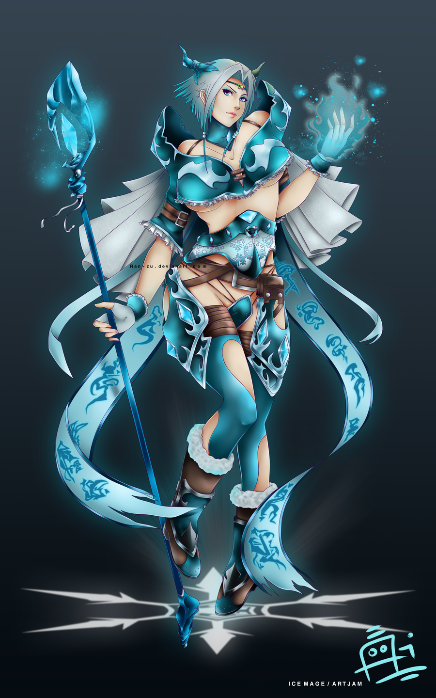 Ice Mage - Artjam by Ran-ZuIce Mage Anime