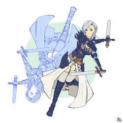 Swordsman by Ran-Zu