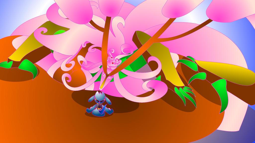 Sakura meets Jace the Riolu by TorarieUmbra