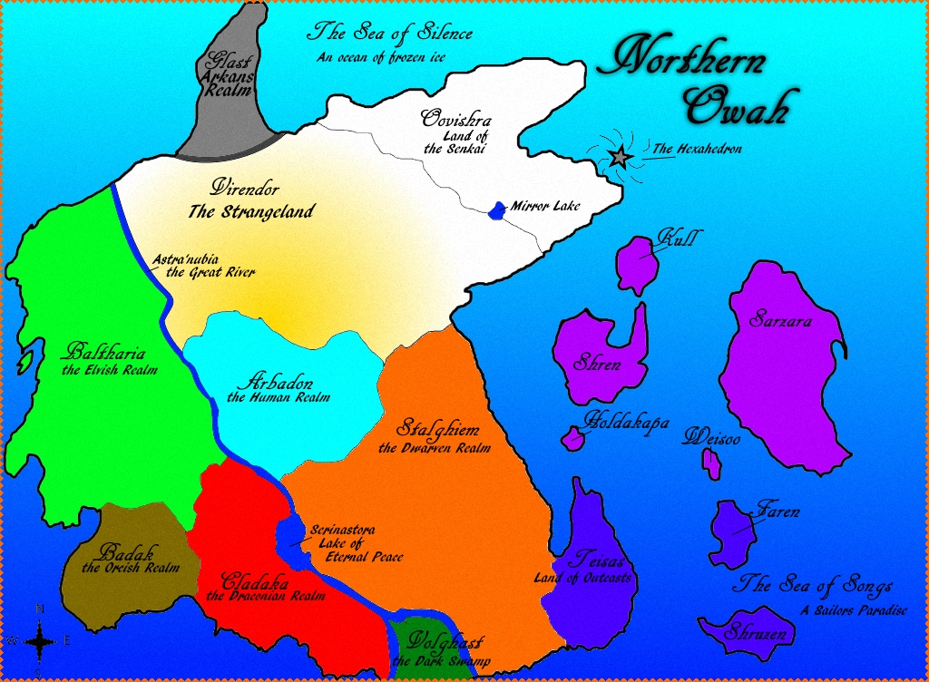 Map of Northern Owah (Updated) by TorarieUmbra