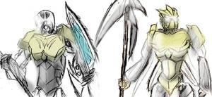 2015 Kopaka And Takanuva Sketches by EandPi233