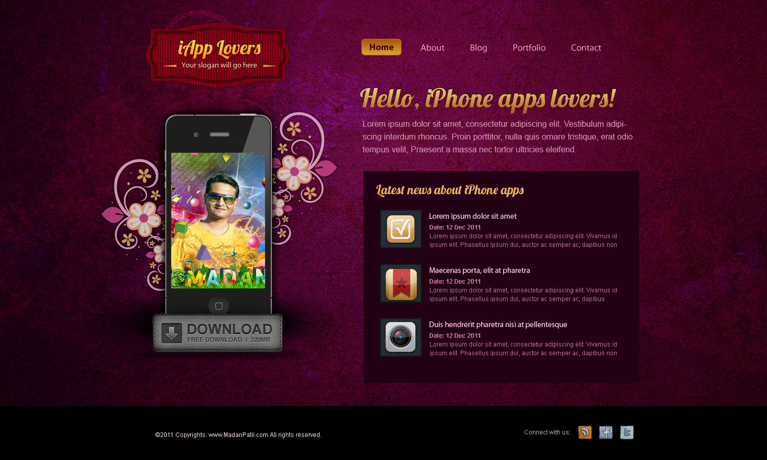 Home Page Design For Iphone Application By Madanpatil On Deviantart
