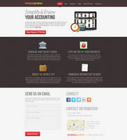 Account service providing company web PSD template by MadanPatil