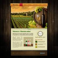 Winerista - winery website PSD template design by MadanPatil