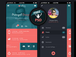 Mobile app UI design (Free PSD) by MadanPatil
