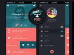 Mobile app UI design (Free PSD)