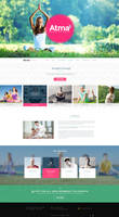 Yoga Training Website main page (homepage) design by MadanPatil