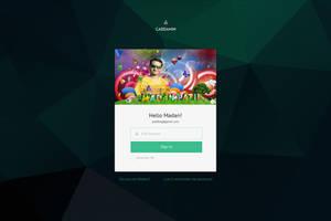 Login Screen UI design by MadanPatil