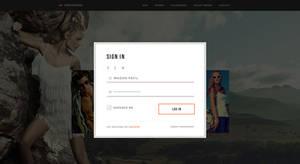 Fashion web Sign in screen UI design by MadanPatil