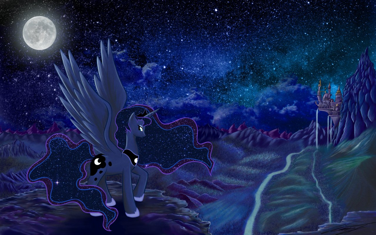 Luna Wallpaper by PhoenixPony