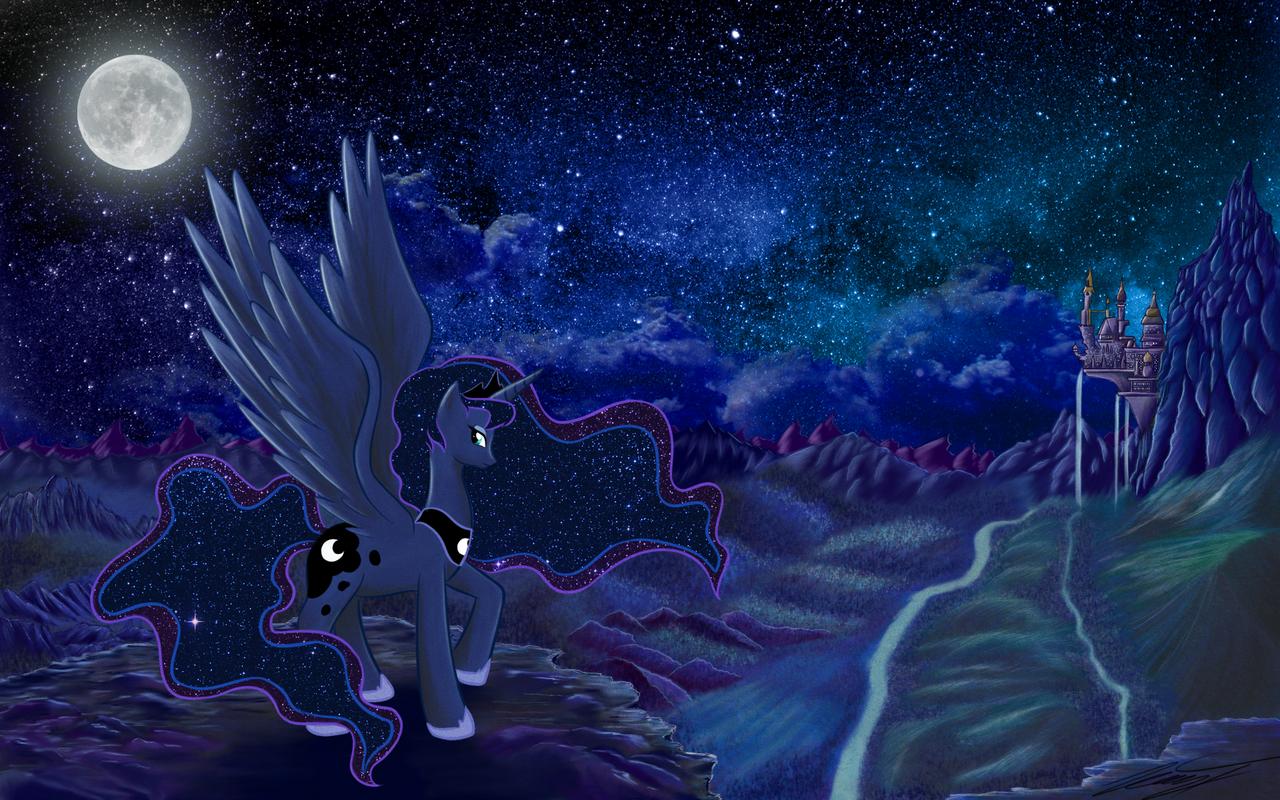 Luna Wallpaper by PhoenixPony