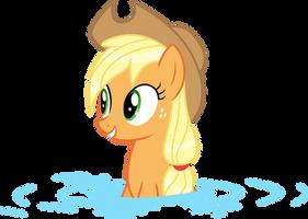 Wet Mane Applejack 1 by Kishmond