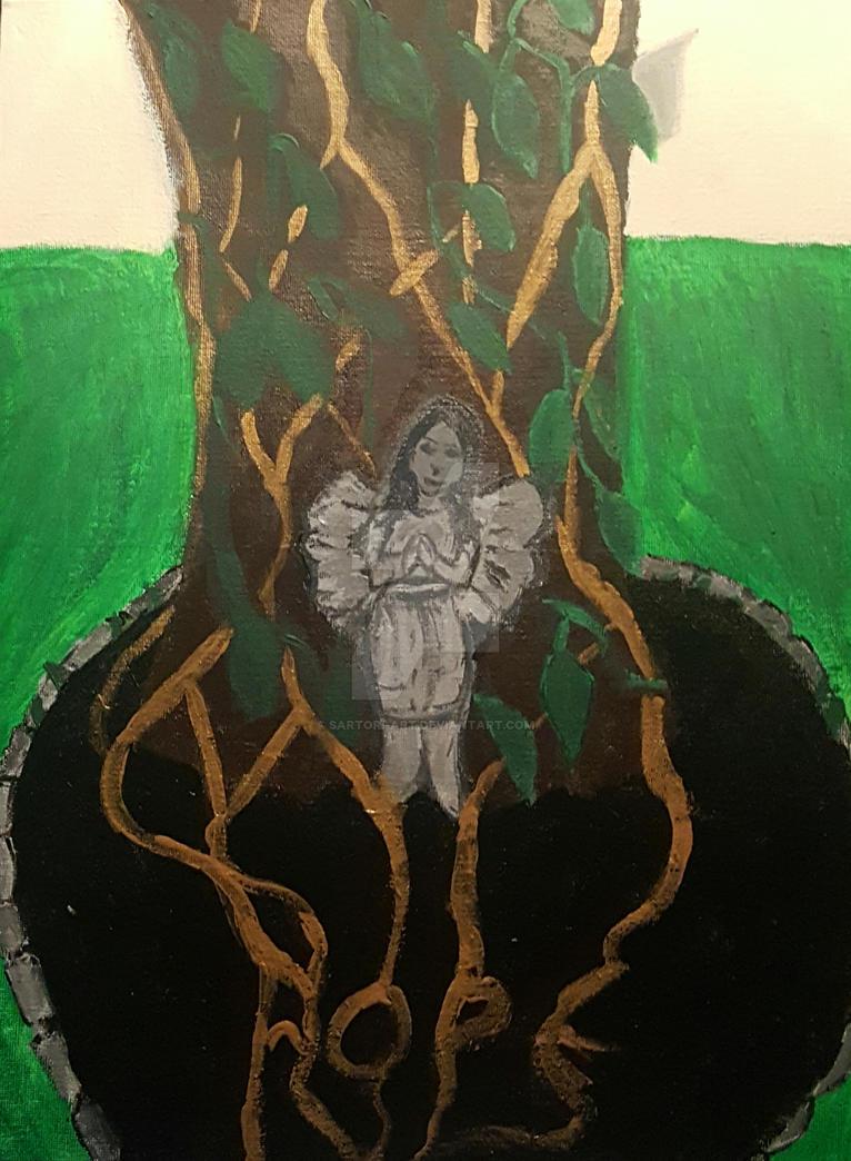 Angel Garden Tree by brit1219