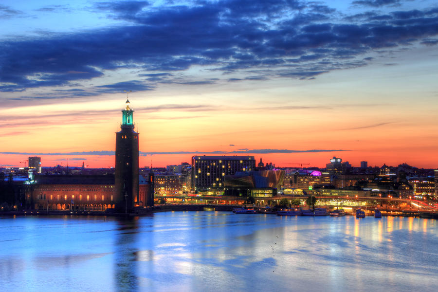 Skymning i Stockholm by guselektrisch