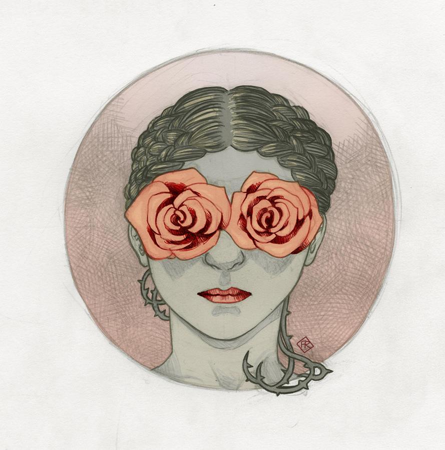 Rose is a rose is a rose is a rose by framecio