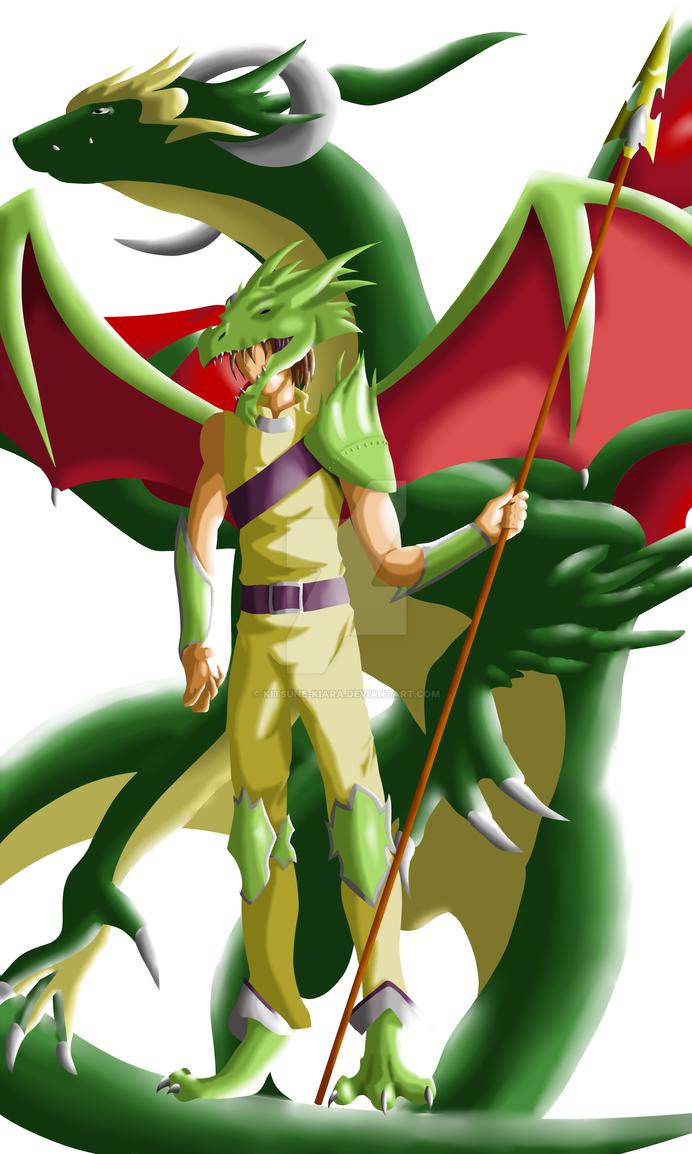The Dragon and his Human form by Kitsune-Kiara