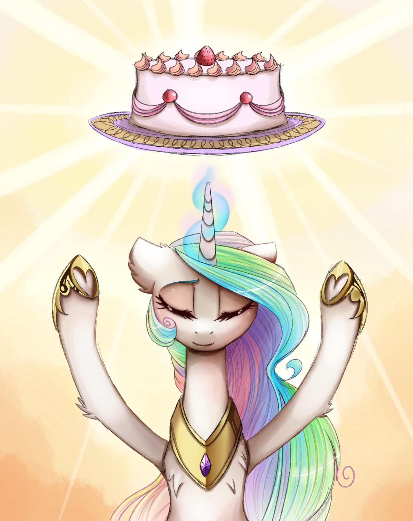 rising the cake