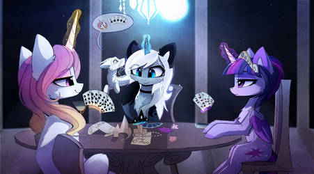 Poker Night by MagnaLuna