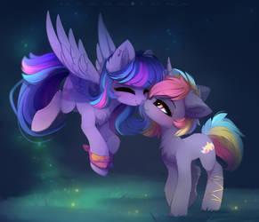 Ponies in love :3